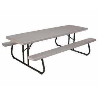 Lifetime 57 in. x 96 in. Commercial Grade Picnic Table 80123 at The