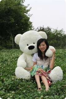 Hot GIANT 90cm TEDDY BEAR HUGE SOFT 100% COTTON TOY White