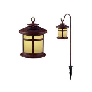 Hampton Bay Reviere Outdoor Rustic Bronze Solar LED Lights (6 Pack