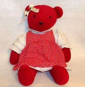NORTH AMERICAN BEAR COMPANY   RED TEDDY BEAR WITH DRESS