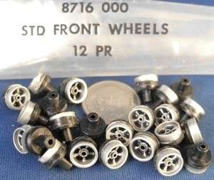 24 Aurora AFX MT HO SLOT CAR ORIGINAL FRONT WHEELS 8716