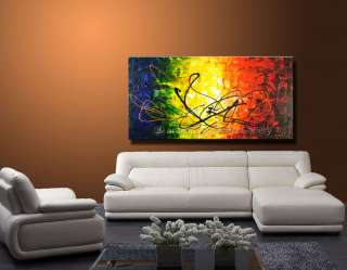 Wall Decor Art Oil Painting Original Abstract Palette Knife Canvas
