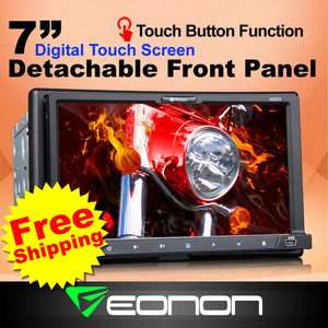 D2223 7 CAR DVD Player HD Touchscreen 2Din Stereo Double DIN  USB