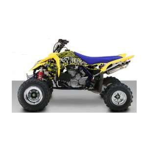 Suzuki LT R450 Grunge ATV Graphic Kit (Yellow) (2006 2010