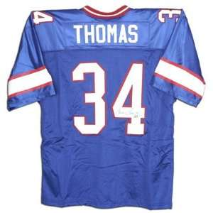 Thurman Thomas Autographed Custom Throwback Jersey Sports