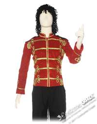 Red Michael Jackson Military Jacket Costume   Michael Jackson Costumes