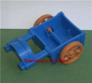 Fisher Price Little People Farm Horse Blue Cart Wagon Trailer