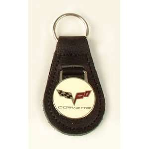 C6 Corvette Black Leather Key Fob Automotive