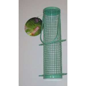 Metal Cylinder Wild Bird Feeder (Green) Patio, Lawn & Garden