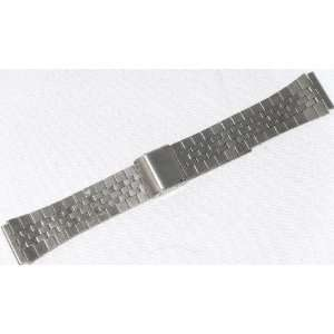 Mens Silver  Tone Stainless Steel Watch Band 18mm MT03