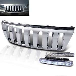 2004 Jeep Grand Cherokee Chrome Front Grill Grille + 8 Led Bumper Fog