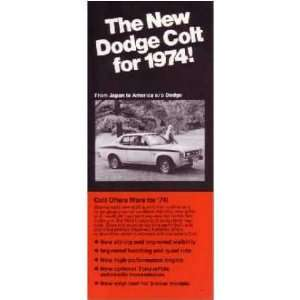 1974 DODGE COLT Sales Brochure Literature Book Automotive