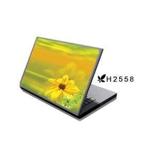 Laptop Notebook Skins Cover H2558 Yellow Flower (Brand New