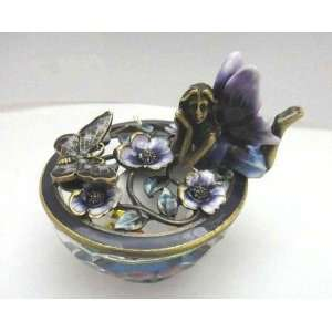 Butterfly with Crystal Base Jewelry Box / Trinket Box