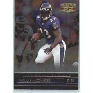 Donruss Gridiron Gear #64 Willis McGahee   Baltimore Ravens (Football