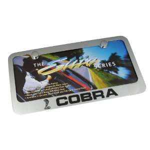 Ford Mustang Cobra Chrome Brass License Plate Frame