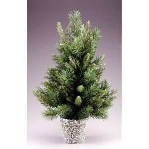 2.5 Potted Cedar Pine Artificial Christmas Tree   Unlit