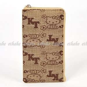 Hello Kitty Plain Mobile Cell Phone Bag Brown Cell Phones