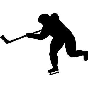 Hockey Player Scoring Goal Vinyl Wall Art Decal