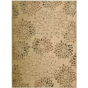 Wool Radiant Impressions Collection Floral Beige Rug 2.30