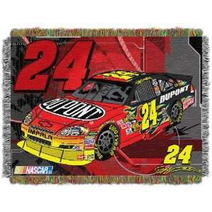 Jeff Gordon Nascar Triple Woven Jacquard Throw Sports