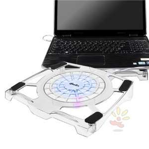 Transparent (with Blue LED Light) Notebook Cooling Fan Electronics