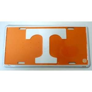 of Tennessee Volunteers White 6 x 12 Embossed Aluminum License Plate