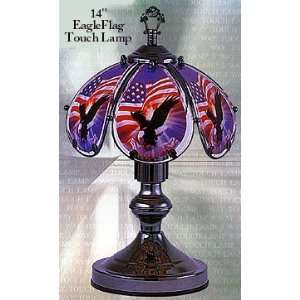 Eagle & American Flag 14 Touch Lamp ET 14US2