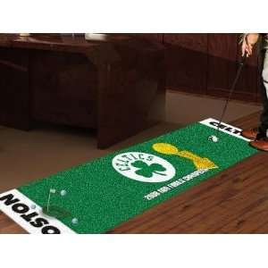 Boston Celtics Golf Putting Green Runner Area Rug