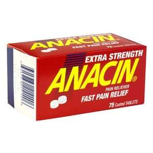 Anacin Extra Strength Pain Reliever, Coated Tablets 75