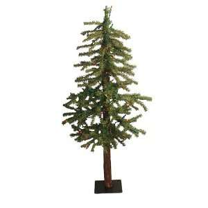3 Pre Lit Natural Alpine Artificial Christmas Tree