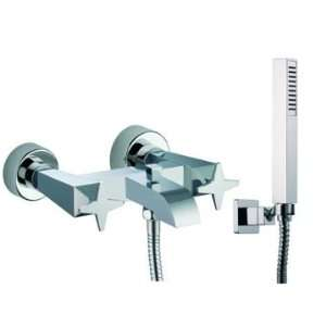 S5554 Wall Mounted Tub Faucet With Hand Shower S5554