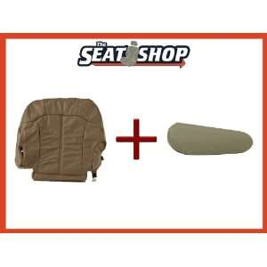 00 01 02 Chevy Silverado Med Neutral Leather Seat Cover bottom & arm