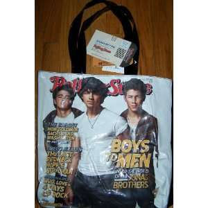 Jonas Brothers Rolling Stone Magazine Cover Tote Bag Toys