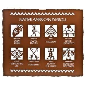 24 Native American Symbols Metal Wall Art by Bindrune