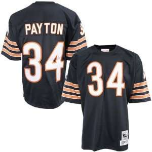 Bears #34 Walter Payton Navy Blue Authentic Throwback Football Jersey