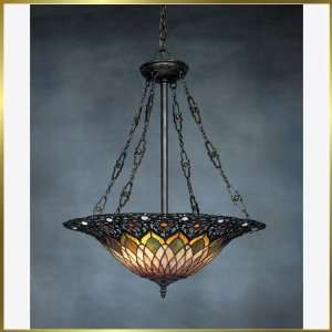 Tiffany Chandelier, QZTF1744VB, 3 lights, Antique Bronze, 22 wide X