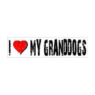 Love My Granddogs   Window Bumper Sticker