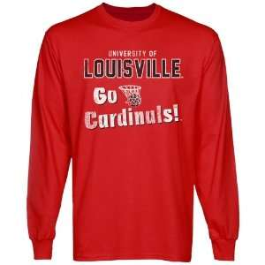 NCAA Louisville Cardinals Cheering Section Long Sleeve T