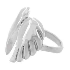 Inox Jewelry Stainless Steel Angel Wings Ring Jewelry