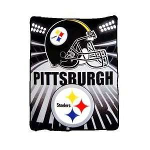 Pittsburgh Steelers Light Weight Fleece NFL Blanket (Shadow Series
