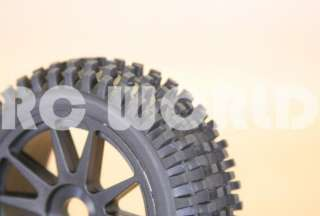 RC 1/8 CAR BUGGY TRUCK TIRES WHEELS RIMS PACKAGE SPIKE