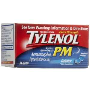 Tylenol PM Extra Strength Pain Reliever & Fever Reducer Geltabs 24
