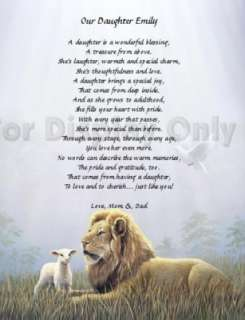 Personalized Daughter Poem Gift for Daughter Keepsake