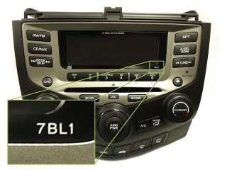 03 07 Honda Accord BLOCK ONLY 6 CD Disc Changer Radio 7BX1 7BX0 7BX1
