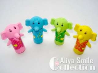 Set of 4 Cute Cartoon Funny Animal Erasers Lovely Kids Party Gifts