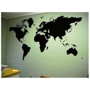Stick Instant Chalkboard Wall Decal, Large World Map