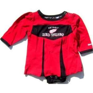 Baby Infant Detroit Red Wings Girl Cheer Dress