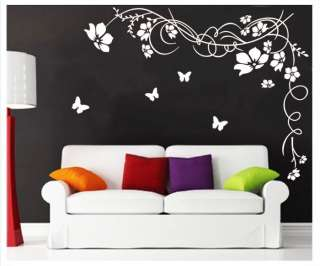 Vine Flower Mural Art Wall Stickers Vinyl Decal Home Room Decor