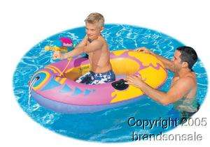 Kids Inflatable Pool Boat Raft W/ Water Squirt Gun Toy